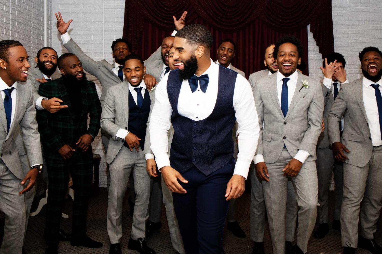 Black Groom and groomsmen